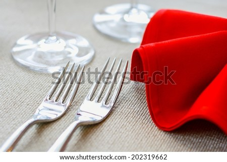 Arrangement for a dinner - stock photo
