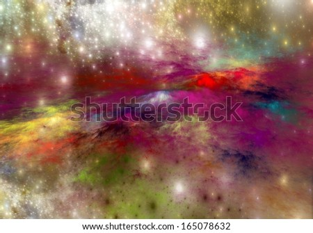 Arrangement of lights, fractal flames and abstract elements�  - stock photo