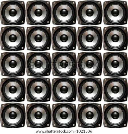 Array of speakers - stock photo