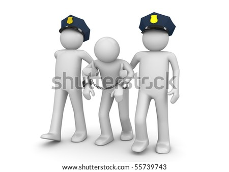 Arrested outlaw - Legal collection - stock photo