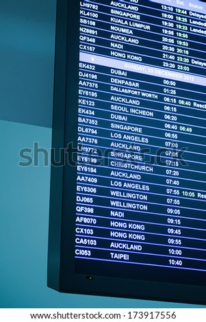Arrival/Departure Board  - stock photo