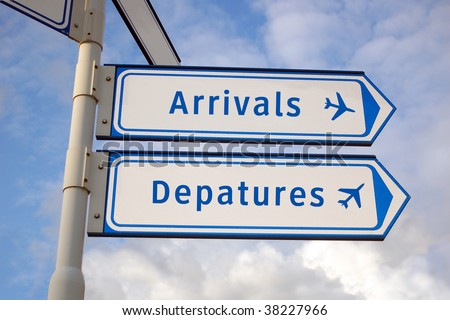 arrivals and departures - stock photo