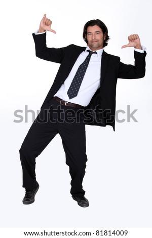 Arrogant businessman - stock photo