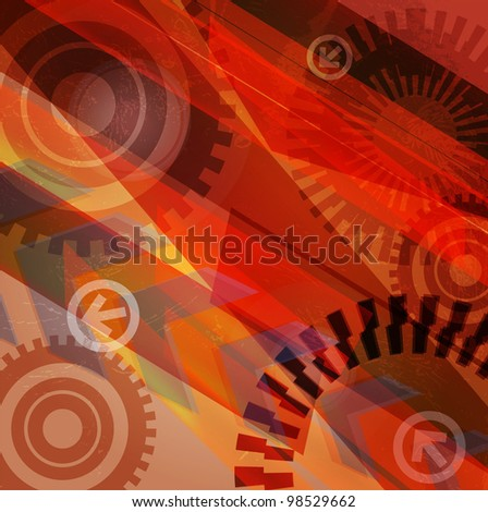 Arrow abstract vector background. - stock photo