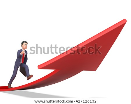 Arrow Aims Indicating Business Person And Entrepreneur 3d Rendering - stock photo
