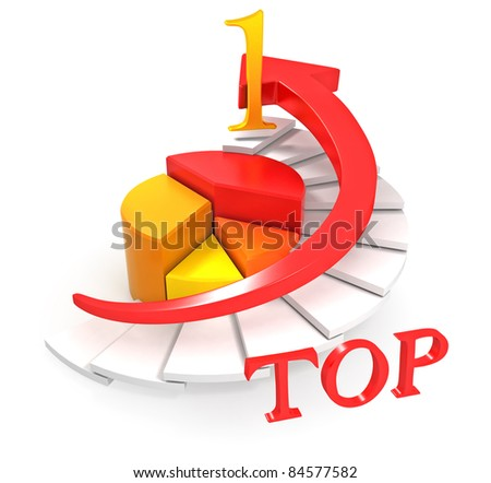 Arrow Chart Top 1 - stock photo