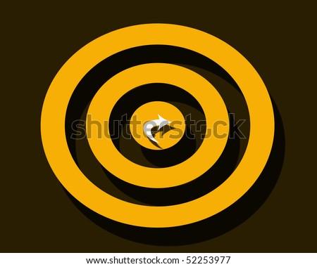 arrow darts - stock photo