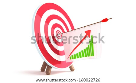 Arrow Graph - stock photo