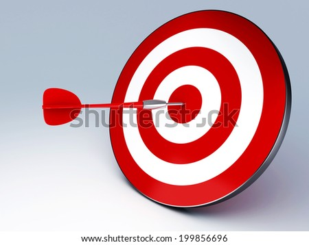 Arrow Hitting The Target. succes concept