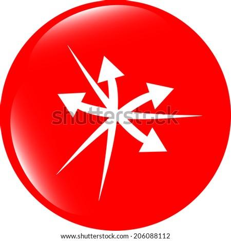 arrow icon web button - stock photo