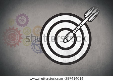 arrow in target against white and grey background
