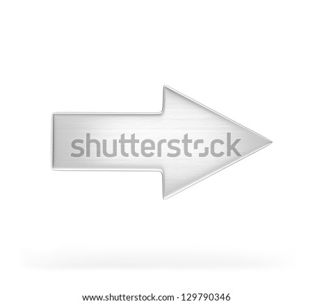 Arrow indicates the direction. 3d image. White background.