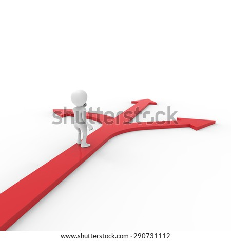 Arrow, person ,3d