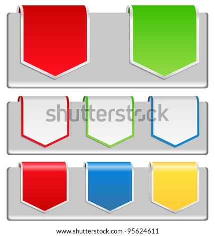 Arrow Stickers - stock photo