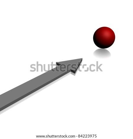 arrow to the aim - stock photo