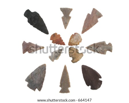 Arrowheads - stock photo