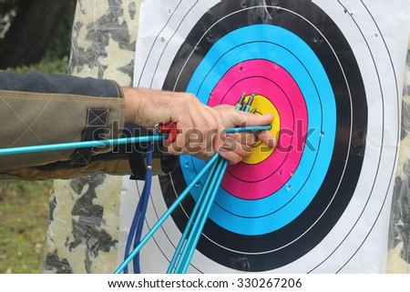 Arrows for bow - stock photo