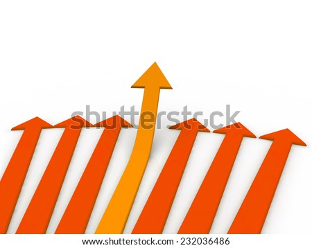 arrows going up - stock photo
