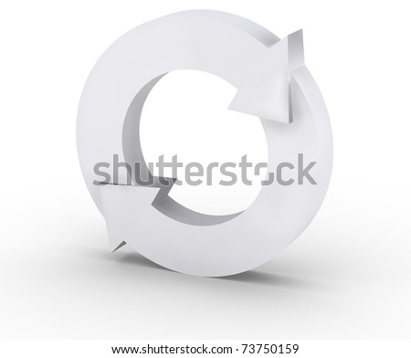 Arrows in a circle flow - stock photo