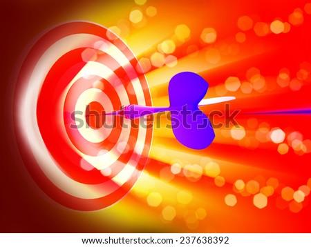 arrows in aim target.  - stock photo