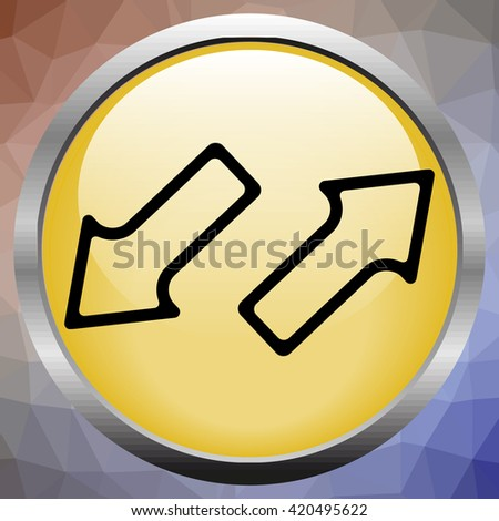 Arrows in opposite directions - stock photo