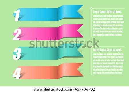 Arrows infographics. Template for diagram, graph, presentation and chart Business concept with 4 options, parts, steps or processes. illustration abstract background.