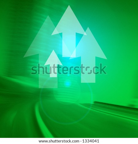 Arrows on green background