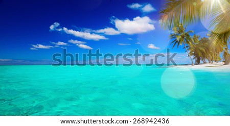 art Abstract beautiful beach and tropical sea  - stock photo