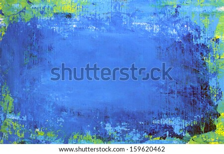 Art abstract blue background painted with acrylic colors. - stock photo