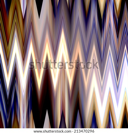 art abstract colorful zigzag geometric vertical seamless pattern background in violet, brown, gold, white and black colors - stock photo