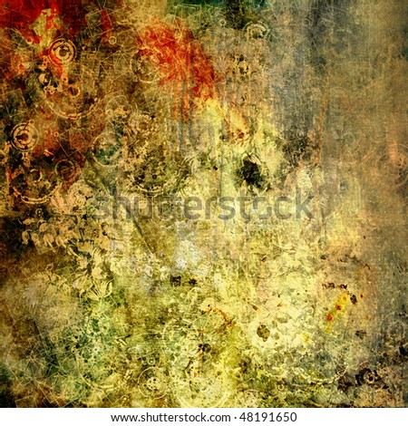 art abstract floral grunge graphic background