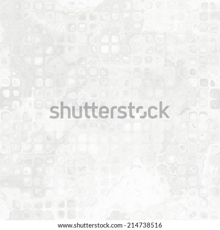 art abstract geometric monochrome background with square and pixeles in white and light grey colors; seamless pattern - stock photo
