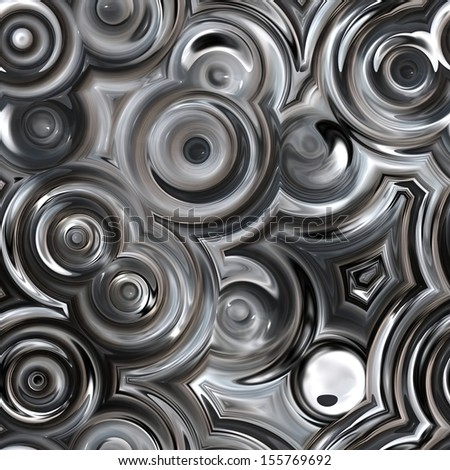 art abstract glass textured grey, black and white background; seamless pattern