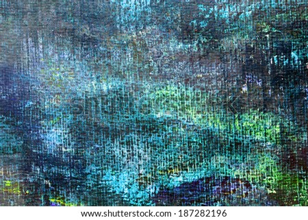 Art abstract green background painted with acrylic colors. - stock photo