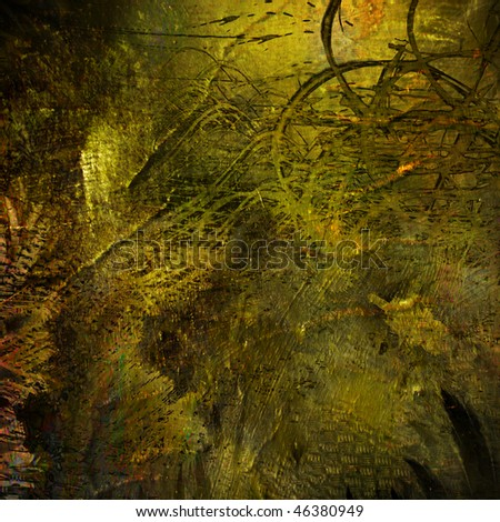 art abstract grunge golden graphic background