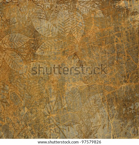 art abstract grunge paper for autumn background - stock photo