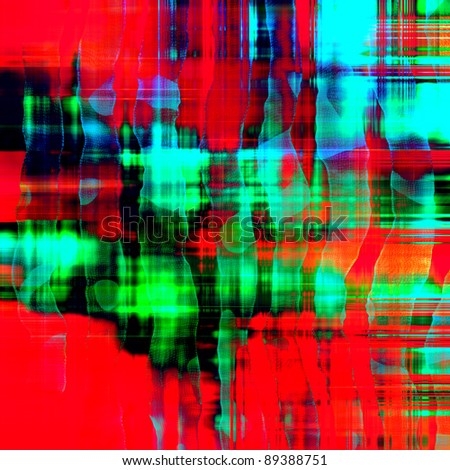 art abstract lines background in vibrant red, blue and green colors - stock photo