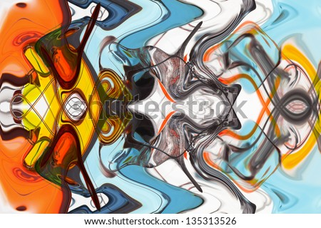 art abstract multi-colored pattern background - stock photo