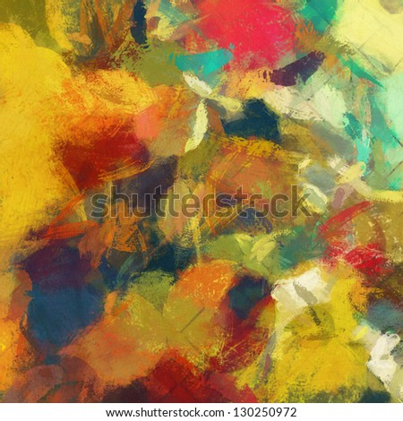 art abstract rainbow painted background - stock photo