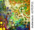art abstract rainbow tiles pattern background - stock photo
