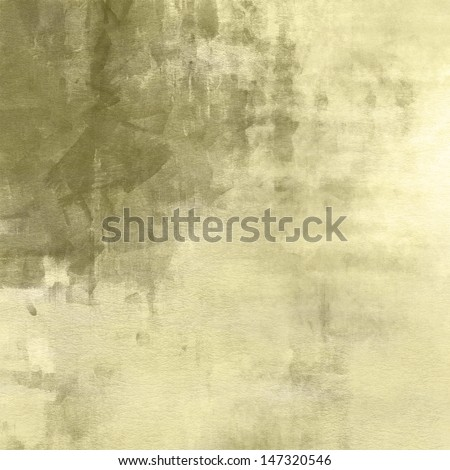 art abstract watercolor background on paper texture in olive and pale goldenrod colors - stock photo