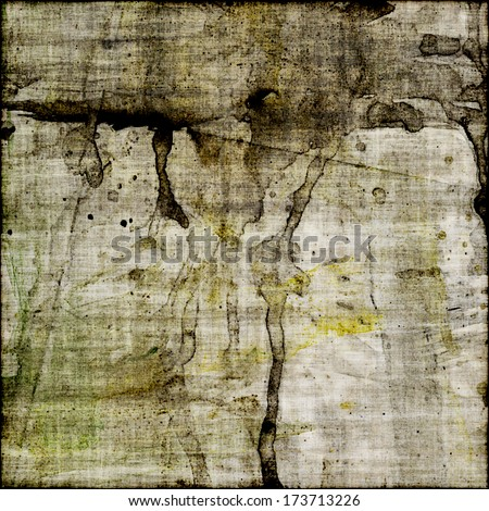 art abstract watercolor sepia background with grey, yellow and black blots  - stock photo