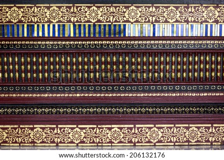 Art and decoration in Thailand temple - stock photo