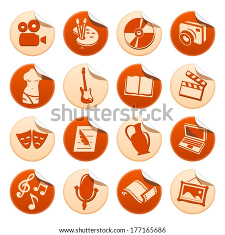 Art and hobby stickers. Raster version of EPS image 35817733 - stock photo
