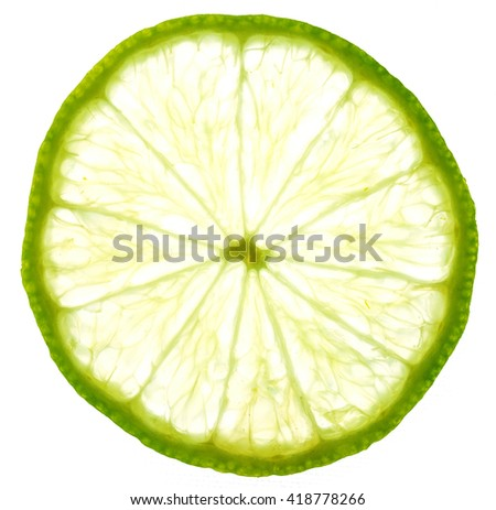 art background from sliced limes - stock photo