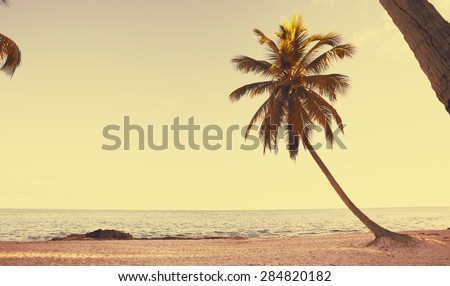 Art  beautiful retro seaside view  background - stock photo