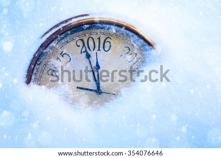 art christmas and 2016 new years eve   - stock photo