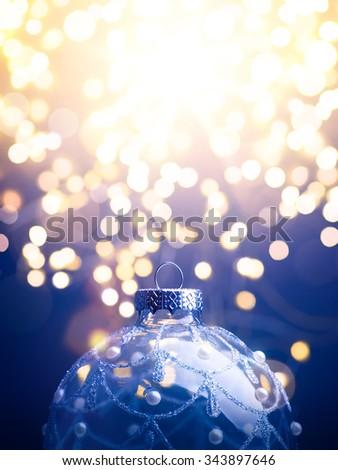 art  Christmas background; christmas tree light - stock photo