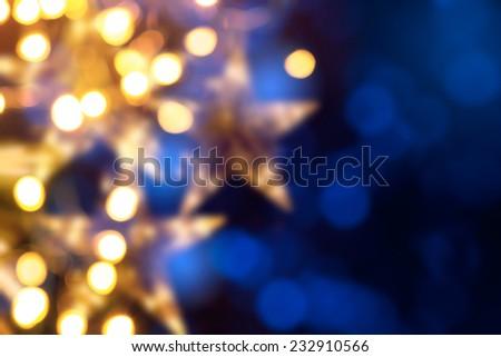 Art Christmas holidays lights background - stock photo