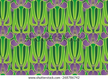 art deco iris design - stock photo